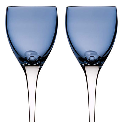 Waterford Crystal, W Sky Crystal Wine Goblets, Pair