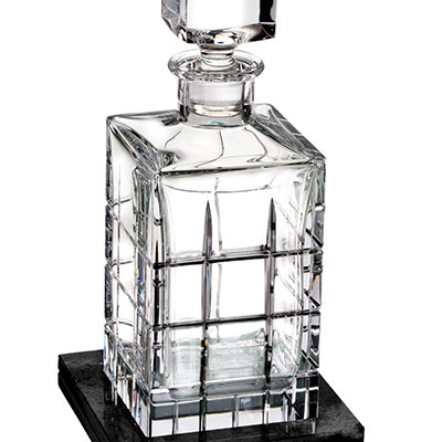 Waterford Crystal, Cluin Crystal Decanter Square 28oz., With Marble Coaster