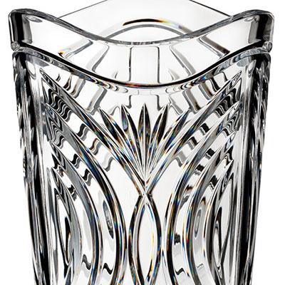 "Waterford Crystal, House of Waterford Waves of Tramore 12"" Crystal Vase"