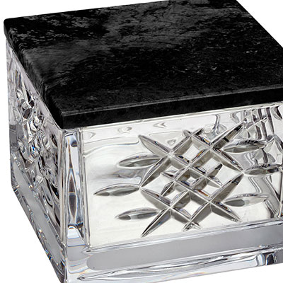 Waterford Crystal, Lismore Revolution Covered Box, With Marble Lid