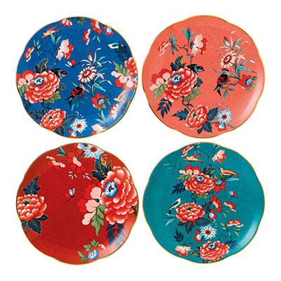 Wedgwood China Paeonia Blush Plate Set of 4