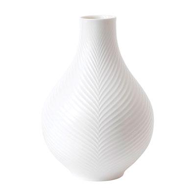 """Wedgwood China White Folia Bulb Vase 9"""""""