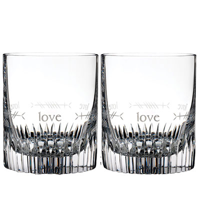 Waterford Crystal, Ogham Love Crystal DOF Tumbler, Pair