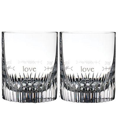 Waterford Crystal, Ogham Love Crystal DOF Tumbler, Pair