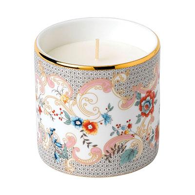 Wedgwood China Wonderlust Rococo Flowers Candle, White Peony and Orange Blossom