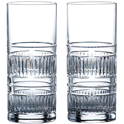 Royal Doulton, Crystal Radial Crystal Hiball, Pair
