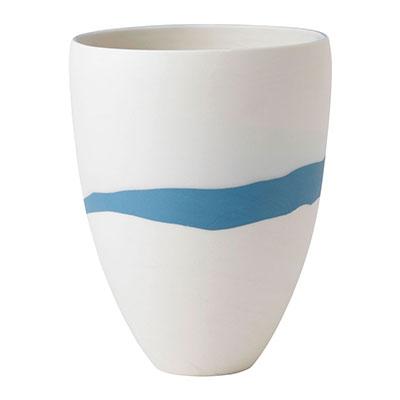 """Wedgwood China Blue Pebble Vase 7.9"""""""