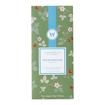 Wedgwood China Tea Moments Summer Tea Blend Strawberry and Cucumber Box of 12