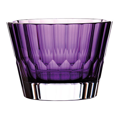 "Waterford Crystal Jeff Leatham Icon Bowl 9"" Amethyst"