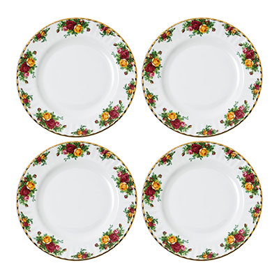 Royal Albert Old Country Roses Dinner Plate Set of 4