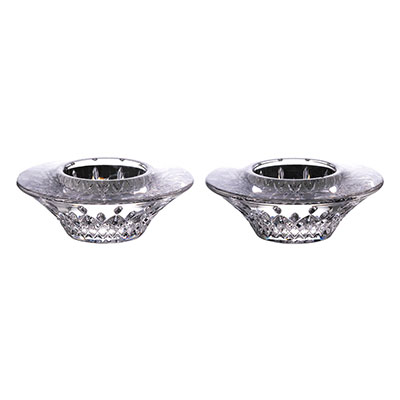 "Waterford Crystal Lismore 4"" Votive Pair"