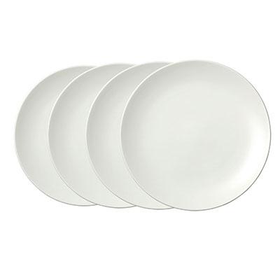 Vera Wang Wedgwood Bone China Perfect White Salad Plate Set of Four