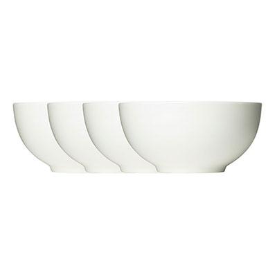 Vera Wang Wedgwood Bone China Perfect White Soup Cereal Bowl Set of Four