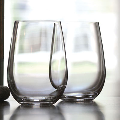 Riedel O Stemless, Riesling Sauvignon Blanc Crystal Wine Glasses, Pair