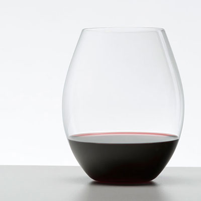 Riedel O Big O Syrah Crystal Stemless Wine Glasses, Pair