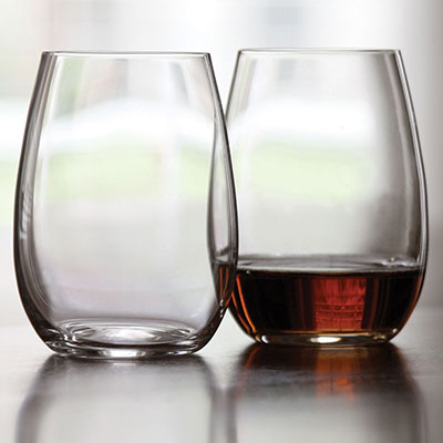 Riedel O Stemless, Fortified Wines Spirits Crystal Wine Glasses, Pair