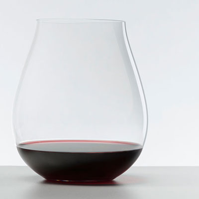 Riedel O Big O Pinot Noir Stemless Crystal Wine Glasses, Pair