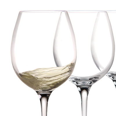 Cashs Ireland, Wine Cru Chardonnay Crystal Glasses, Set of 4