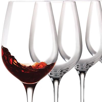 Cashs Ireland, Wine Cru Cabernet, Merlot Crystal Red Wine Glasses, Set of 4