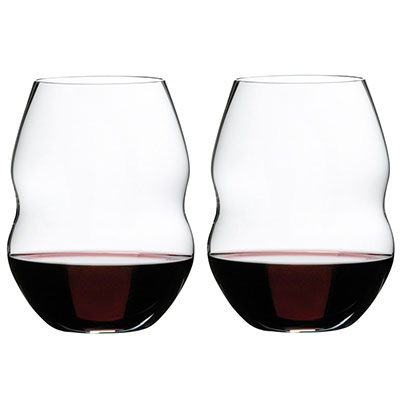 Riedel Swirl Red Wine Glasses, Pair