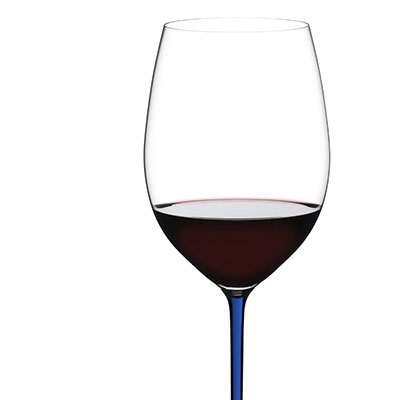 Riedel Fatto A Mano, Cabernet, Merlot Crystal Wine Glass, Blue