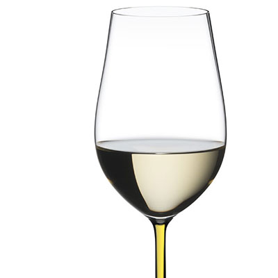 Riedel Fatto A Mano, Riesling, Zinfandel Crystal Wine Glass, Yellow