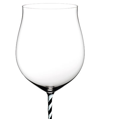 Riedel Fatto A Mano Burgundy Grand Cru, Black and White Twist