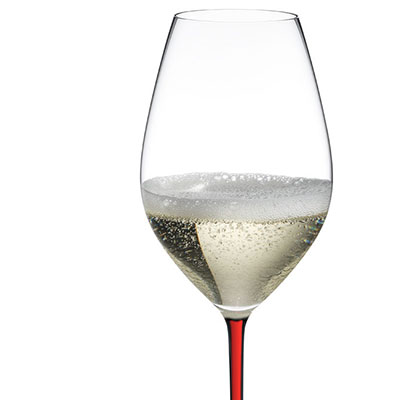 Riedel Fatto A Mano, Champagne Crystal Glass, Red
