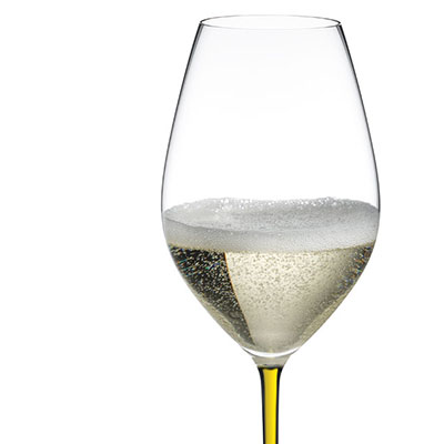 Riedel Fatto A Mano, Champagne Crystal Glass, Yellow