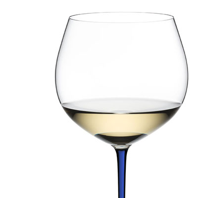 Riedel Fatto A Mano Oaked Chardonnay Glass, Blue