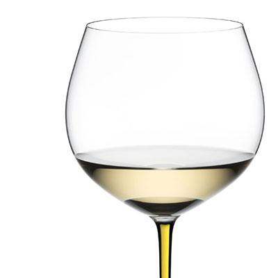 Riedel Fatto A Mano, Oaked Chardonnay Crystal Wine Glass, Yellow
