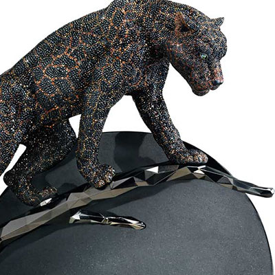 Swarovski Crystal, Myriad Panther Moonlight Sculpture