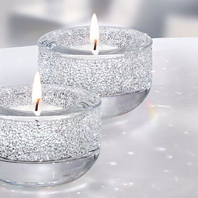 Swarovski Crystal, Shimmer Clear Tea Light, Single