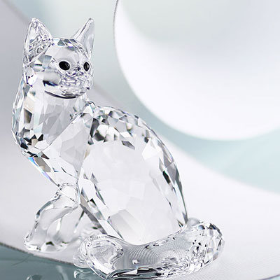 Swarovski Crystal, Maine Coon Cat