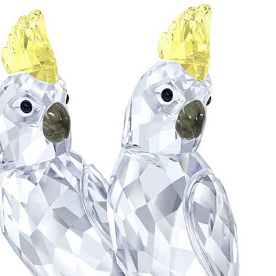 Swarovski Crystal, Cockatoos Pair