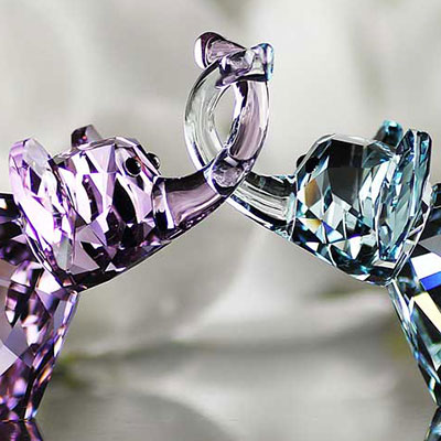 Swarovski Crystal, Lovlots Elephants In Love, Paul and Paula