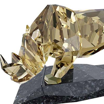 Swarovski Crystal, Soulmates Rhinoceros Sculpture