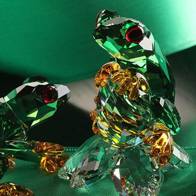 Swarovski Crystal, Paradise Frogs