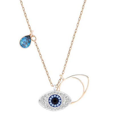 Swarovski Duo Evil Eye Pendant Necklace