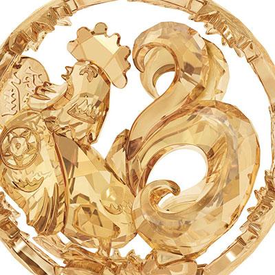 Swarovski Crystal, Chinese Zodiac Gold Tone Rooster