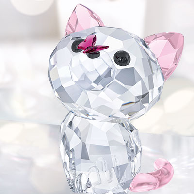Swarovski Crystal, Kitten Millie The American Shorthair