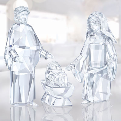 Swarovski Crystal, Nativity Crystal Figure, Baby Jesus