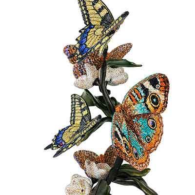 Swarovski Crystal, Myriad Papili Butterflies Sculpture