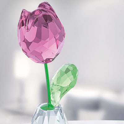 Swarovski Crystal, Flower Dreams Pink Tulip