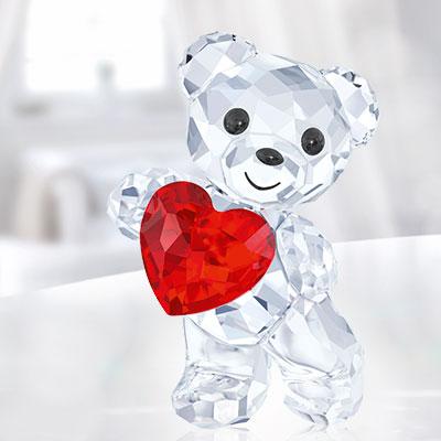 Swarovski Crystal, Kris Bear A Heart For You, Light Siam