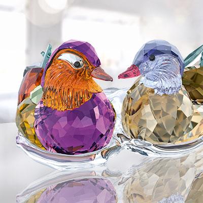 Swarovski Crystal, Paradise Mandarin Ducks