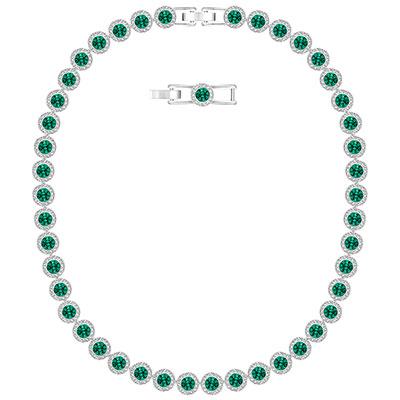 Swarovski Green Crystal Angelic All Around Necklace