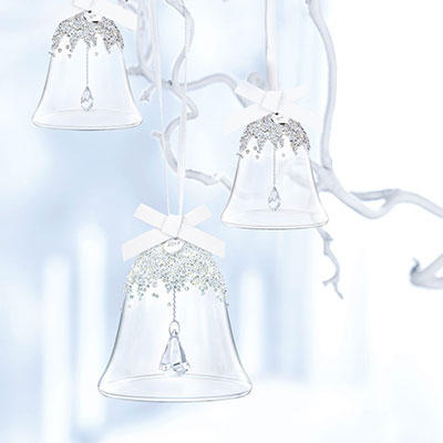 Swarovski Crystal, 2017 Annual Christmas Bell Crystal Ornament Set