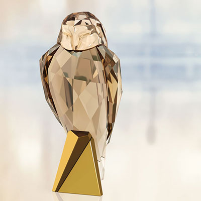 Swarovski Crystal, Owl Sculpture