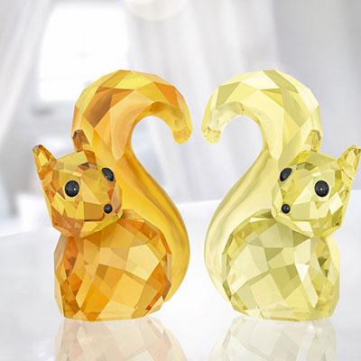Swarovski Crystal, Lovlots Squirrels In Love Bert and Berta